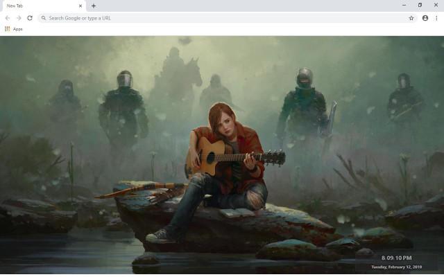 The Last of Us New Tab Theme
