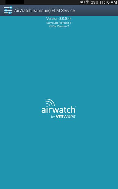 AirWatch Samsung ELM Service screenshot 3