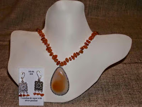 Photo: <BEREHYNYA> {Great Goddess Protectress} unique one-of-a-kind statement jewellery by Luba Bilash ART & ADORNMENT  Agate pendant, carnelian, silver plate, sterling silver SOLD/ПРОДАНИЙ
