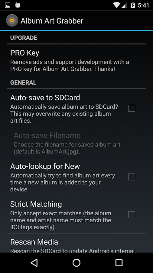 Album Art Grabber Pro Key- screenshot