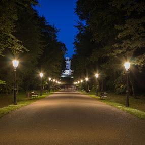 Maksimir at night by Nena Volf - City,  Street & Park  City Parks ( maksimir, park, croatia, night, zagreb,  )