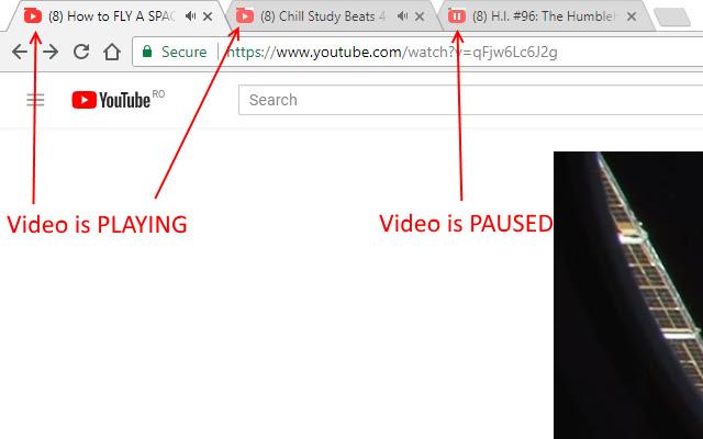 YouTube progress in tab (favicon)