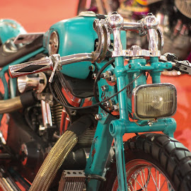 Custom Solid Motorcycle by Wildan Fajri - Transportation Motorcycles ( motorcycle, motorbike, blue sky, color, blue, custom motorcycle, custom, modification, vehicle, transportation )