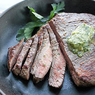 Steak with Walnut Gremolata Butter