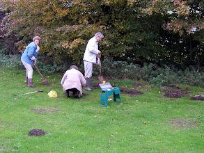 Photo: Bulb planting on the Recreation Ground November 2007