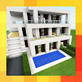 Three modern houses. Map for MCPE apk