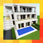Three modern houses. Map for MCPE icon