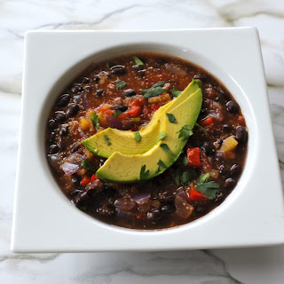 Mexican Black Bean Stew Recipe with Amaranth Grain.