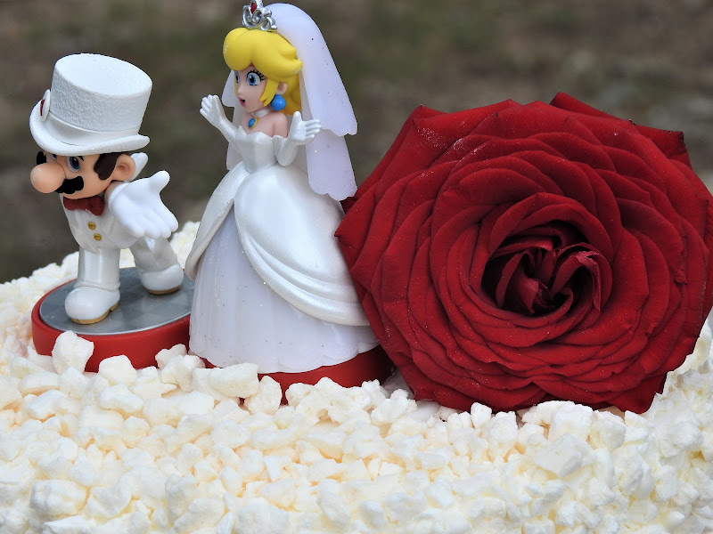 torta nuziale con sposi in miniatura di luciano55
