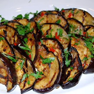 Grilled Marinated Eggplant.