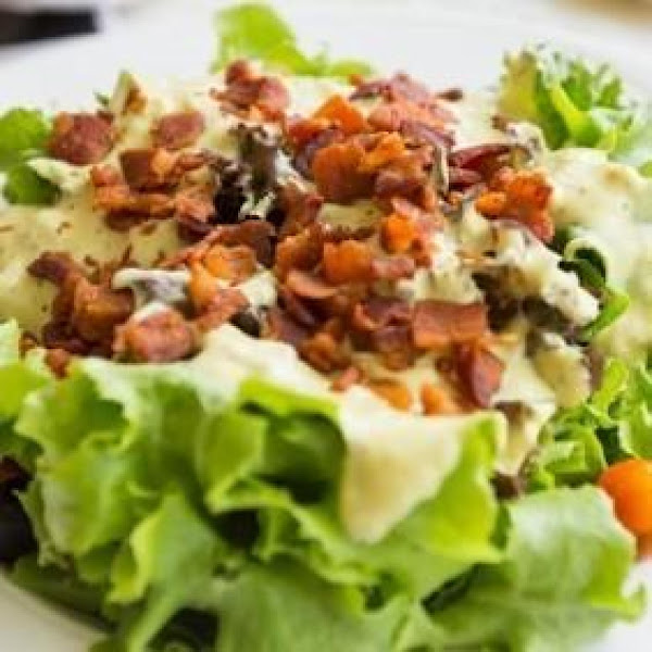 Spinach Salad W/ Bacon & Buttermilk Dressing Recipe
