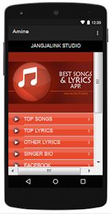 Amine Top Songs & Hits Lyrics. - náhled