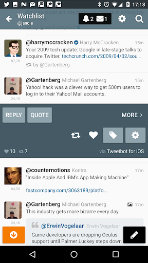 Screenshot for Gravity For Twitter & RSS in Hong Kong Play Store