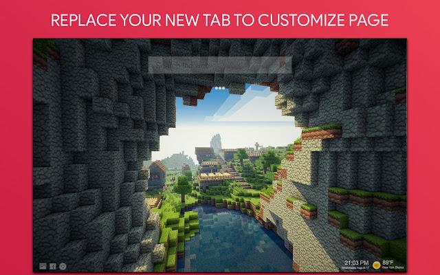 Minecraft NewTab HD Themes