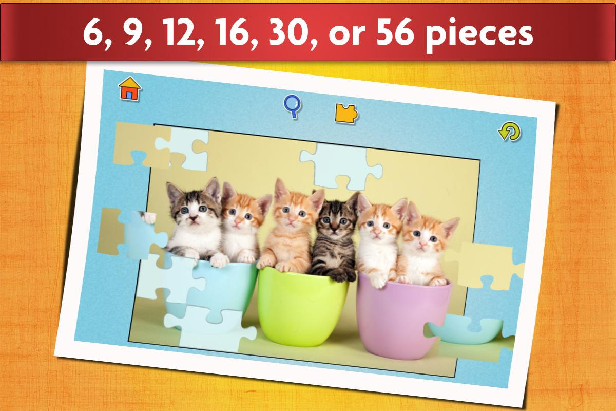 Cats Jigsaw Puzzles Games - For Kids & Adults 😺- screenshot