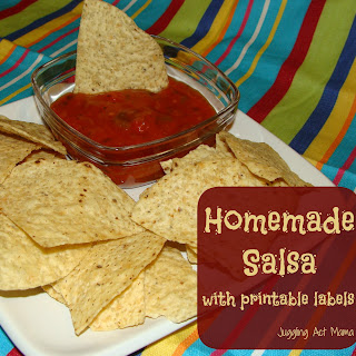 Mild Salsa (Freezer Recipe) with Printable Labels
