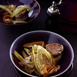 Pork Medallions with Braised Vegetables