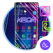 Blue Purple Neon APUS Launcher Theme Android APK Download Free By Cool Theme Team