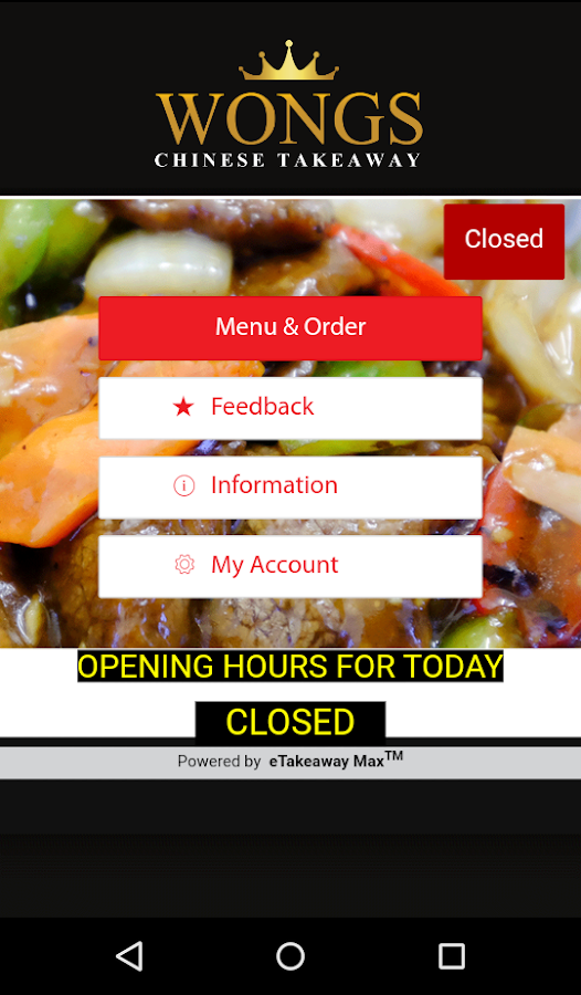 Wongs Chinese Takeaway- screenshot