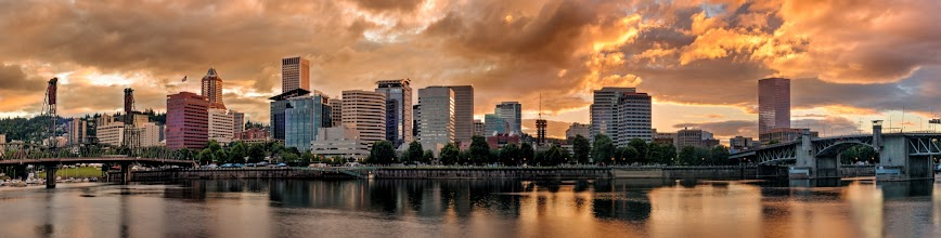 Photo: River City  I've shot this scene a lot. Maybe too much... maybe not enough. But part of me just wants to get the ultimate pano of Portland's awesome waterfront during a sunset. This one from a few nights ago wasn't bad but it was a bit one sided.  Years and years ago I witnessed a sunset over the city that was just spectacular, I can still see it in my head... the sky was lit up with pink and purple and a touch of orange within rolling clouds coming from the West. Back then I wasn't shooting very often and I didn't even own a cell phone so in my head is the only way to see it. I want to get that sunset in this scene one day. I will get it... I will...  Prints available:http://bit.ly/1vpVqYF  #portlandoregon  #persistence  #skylinephotography  #portlandia