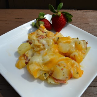 Cheesy Ham Potatoes