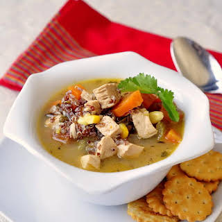 Lemon Chicken and Red Quinoa Soup.