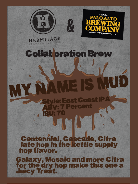 Logo of Collabration With Hermitage And Palo Alto My Name Is Mud