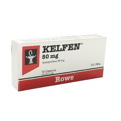 ketoprofeno kelfen 50 mg x 10 cápsulas