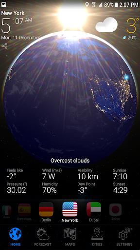 WEATHER NOW Premium US Forecast, 3D Earth & Widget  screenshots 10