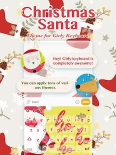 Christmas Santa 2018 Keyboard Theme for Girls - náhled