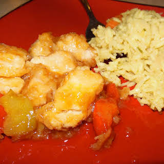 Six Sisters Sweet and Sour Chicken with a Lori twist.
