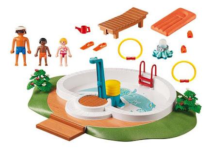 Contenido Real de Playmobil® 9422 Piscina