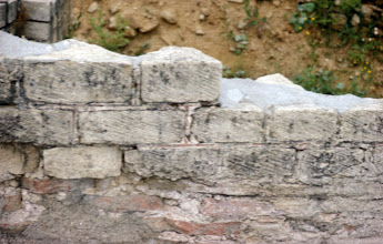 Photo: Masonry work along one of the twin channels