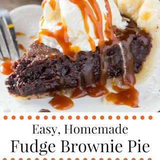 Fudge Brownie Pie
