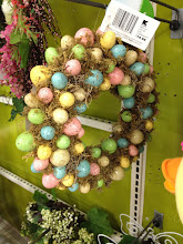 Photo: This wreath caught my eye too!  Looks like something you'd see at Pottery Barn, but at a much more affordable price!