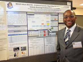 Photo: Doctoral Candidate Luther Brock III at 2014 COE Poster Competition