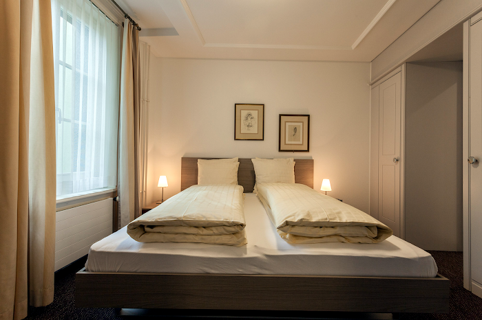 Bedroom at EMA House Serviced Apartments, Beckenhofstrasse 22 - Unterstrass