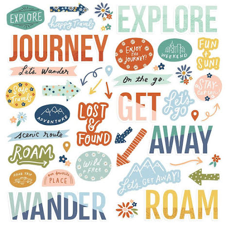 Simple Stories Foam Stickers 45/Pkg - Safe Travels