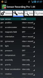Sensor Recording Pro - náhled