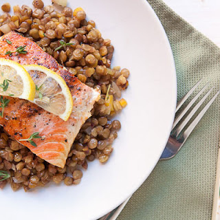 Lentils and Salmon