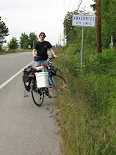 Photo: Day 1: Finally made it to the outskirts of Anacortes. Unfortunately, we had to bike along the highway after this picture for about 2 miles. Not fun.