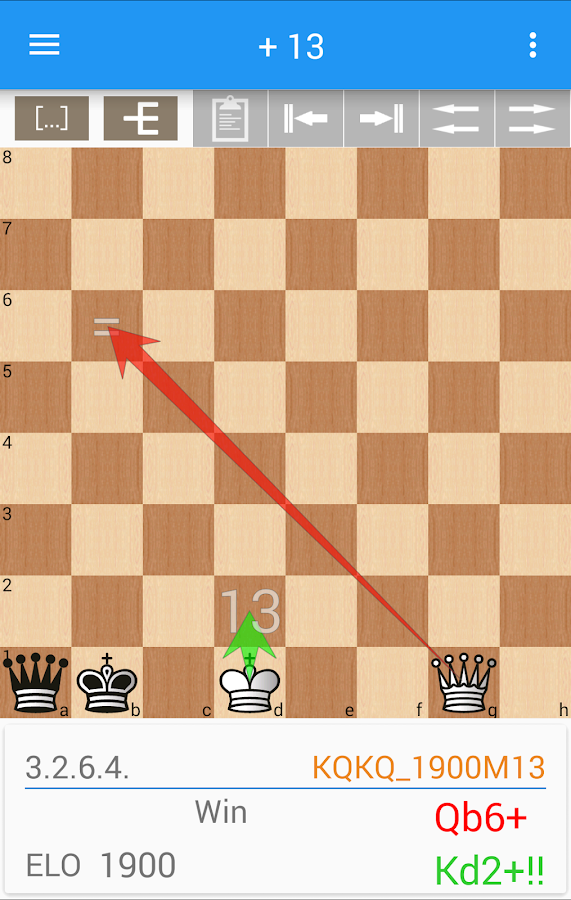 7-piece chess endgame training- screenshot