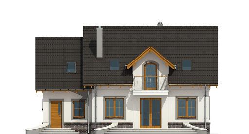 Dom Dla Ciebie 5 z garażem 1-st. A2 - Elewacja tylna