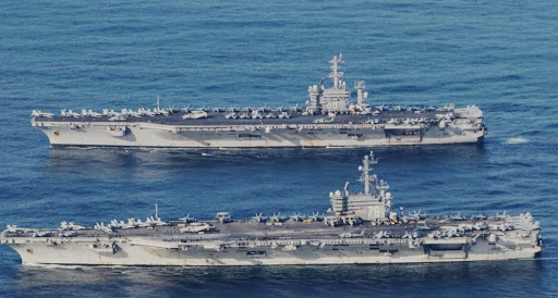U.S. Sends 2 Aircraft Carriers to South China Sea