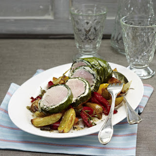 Swiss Chard-Wrapped Pork