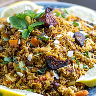 Instant Pot Rice Pilaf With Ground Lamb & Figs.
