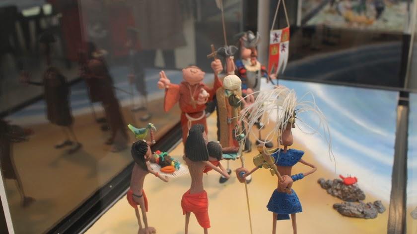 La muestra recrea diversos pasajes históricos como el descubrimiento de América.