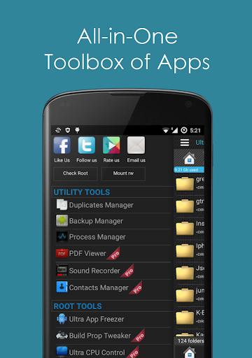 Ultra Explorer [Root Browser] 1.2.9 screenshots 1