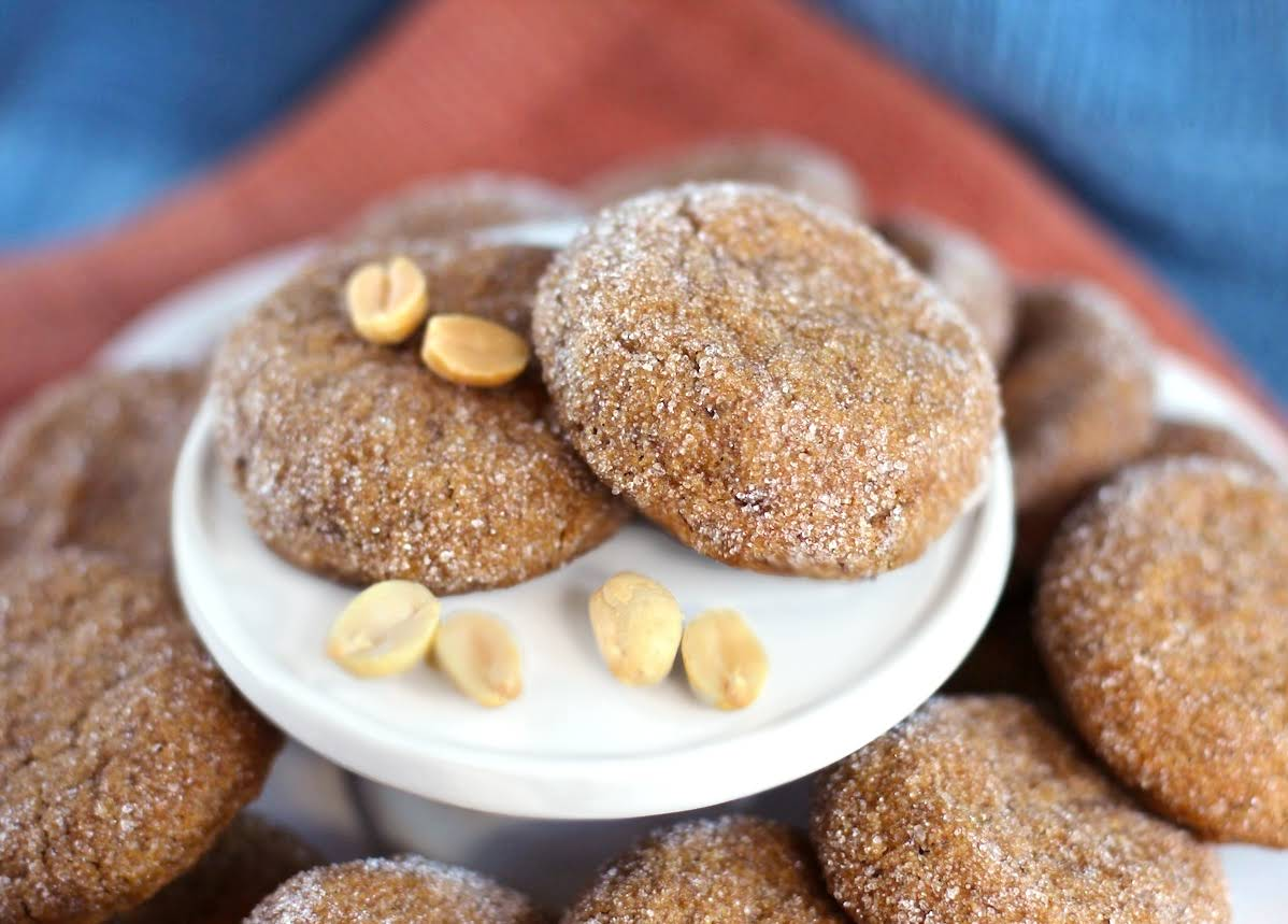 Healthy Chewy Peanut Butter Cookies (gluten free, low sugar, high protein)