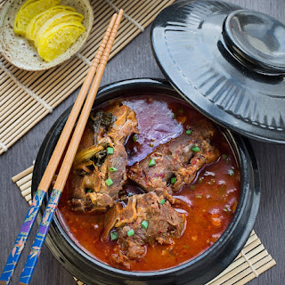 Korean Pork Bone Potato Soup/Stew (Gamjatang)